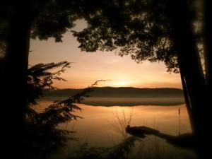 Lever de soleil lac